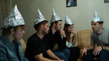 Friends In Foil On The Head Of...