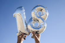 Number-shaped Balloons Forming...