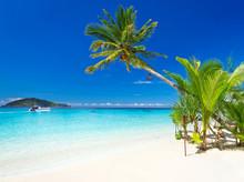 Tropical Beach Scenery At Cari...