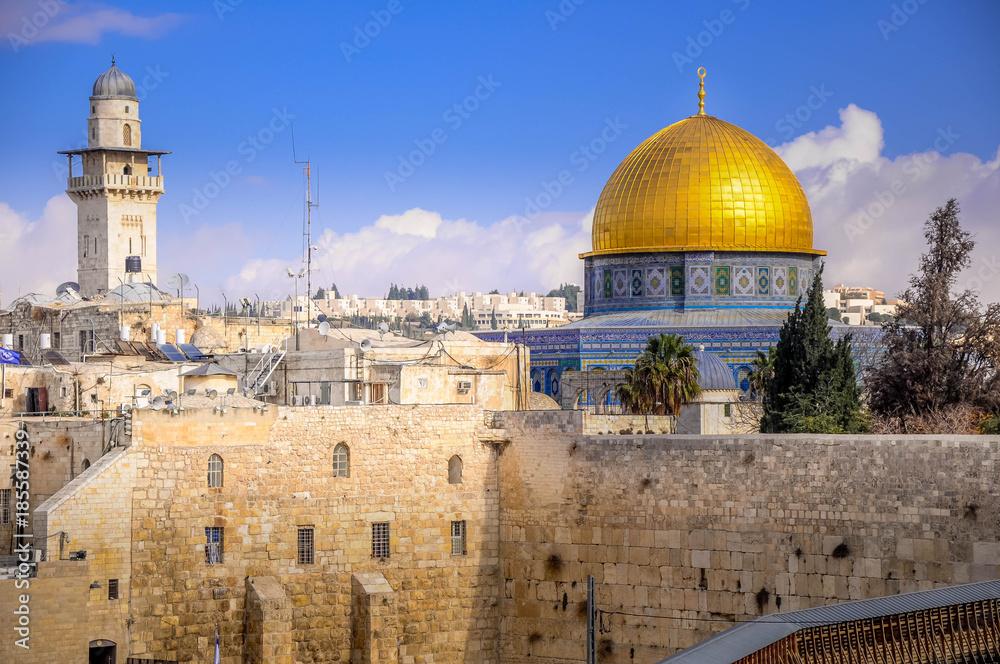 953be88fb Fototapeta na ścianę Western Wall Plaza, the Temple Mount, Jerusalem ...