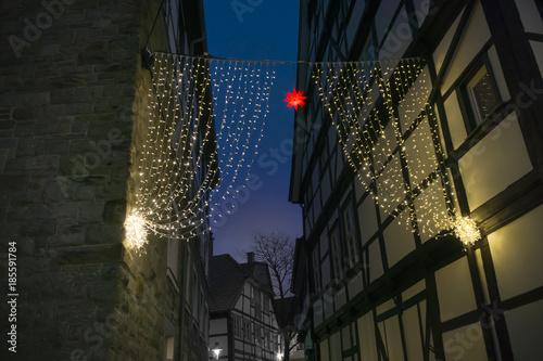 Soest Weihnachtsmarkt.Weihnachtsmarkt In Soest Lichter Vorhang Zwischen