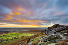 Sunset From Stanage Edge, In T...