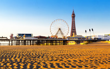 Blackpool Tower And Central Pi...