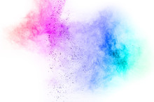 Abstract Multicolored Powder S...