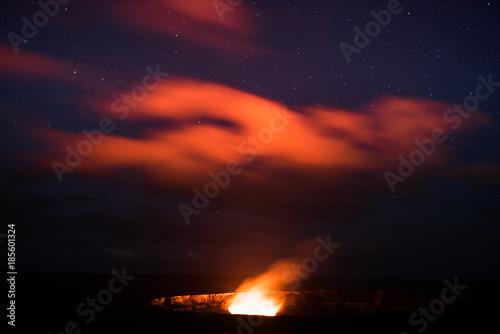 Deurstickers Vulkaan Spirits In The Sky