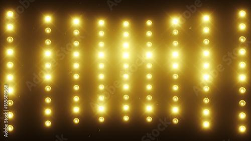 Fototapeta A wall of light projectors, a flash of light 3d illustration obraz na płótnie