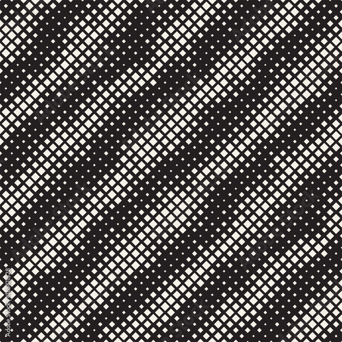 Foto op Aluminium Kunstmatig Modern Stylish Halftone Texture. Endless Abstract Background With Random Size Squares. Vector Seamless Chaotic Mosaic Pattern