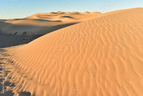 natural sand patterns and ripples in desert sand dunes
