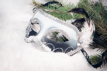 New Year's Mask With A Spruce ...