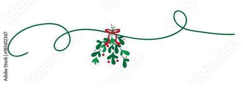 Fototapeta Merry Christmas Mistletoe