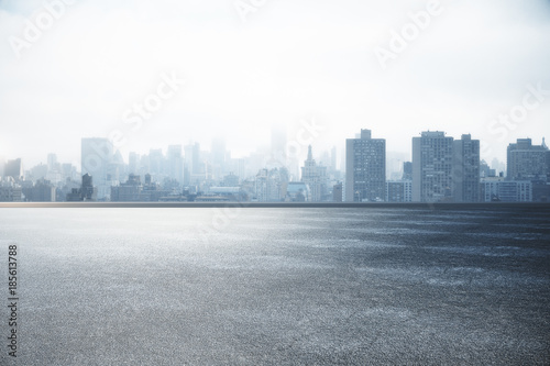 Deurstickers Stad gebouw City skyline wallpaper