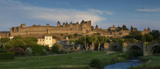 Fototapeta na wymiar Citadel of Carcassonne, Aude, France