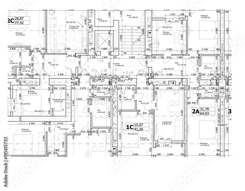 Part of a detailed architectural plan floor plan layout blueprint part of a detailed architectural plan floor plan layout blueprint vector illustration malvernweather Image collections