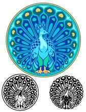 Art Nouveau Style Emblem Of A ...