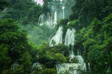 Waterfall In The Forest Of Tha...