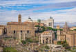 Rome (Italy) - The archeological historic center of Rome, named Imperial Fora.