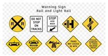 Road Sign. Warning. Rail And L...