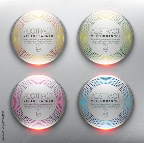Vector glass web banners set of 4 Plakat