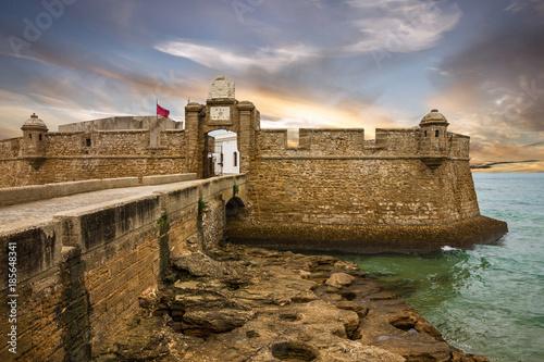 Fotografie, Obraz  Kadiz, San Sebastian fortress, Spain