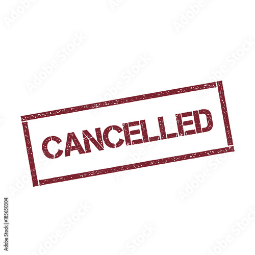 Fotografía  Cancelled rectangular stamp