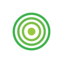 Green Target Icon- Vector Illusatration