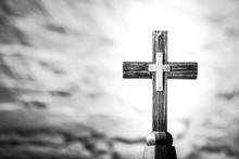 Wooden Cross With Brass Cross ...
