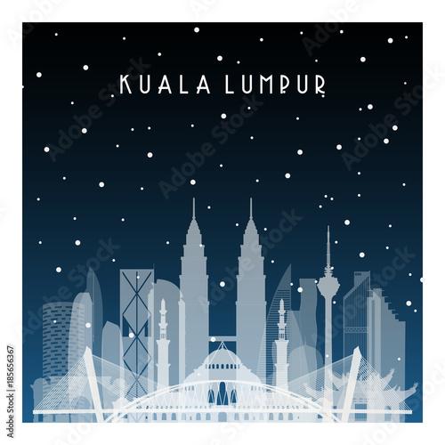 Photo  Winter night in Kuala Lumpur
