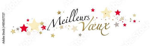 Photo MEILLEURS VOEUX fond blanc