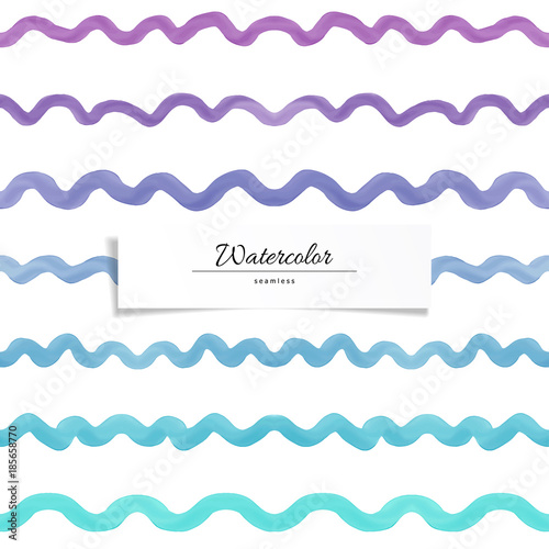 vector seamless background with wavy pattern watercolor every strip can be used as seamless element for creating new designs hand drawing buy this stock vector and explore similar vectors at adobe adobe stock