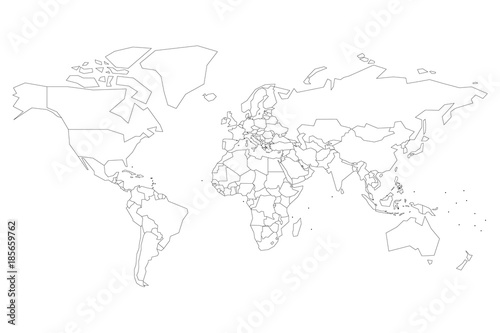 Political map of world with dots instead of small states blank map political map of world with dots instead of small states blank map for school quiz gumiabroncs Image collections