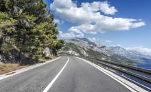 Asphalt Road To The Sea. Aspha...