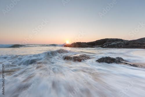 Sunset tide Sri Lanka Seascape Canvas Print