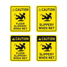 Caution Floor Slippery When Wet Step Carefully Sign Set