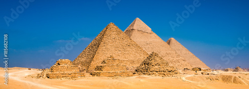 Tuinposter Egypte Great Pyramids in Giza, Egypt
