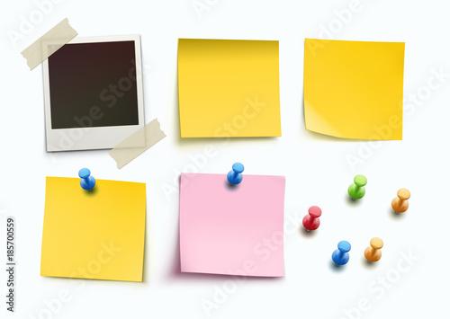 Fotografie, Obraz  Design elements for bulletin board