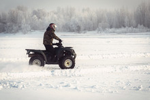 Winter Fun On The ATV.