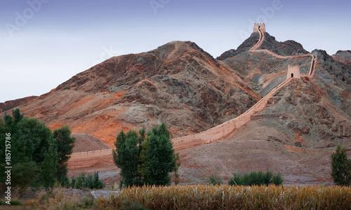 Fototapeta Scenery of Jiayuguan Pass in Gansu, China