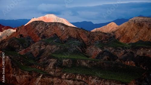 Foto op Plexiglas Chocoladebruin Danxia Geopark landscape in Zhangye, China
