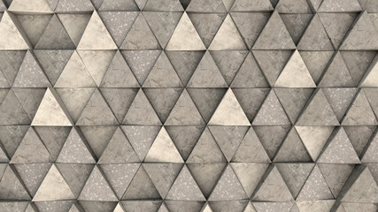 FototapetaPattern of concrete triangle prisms