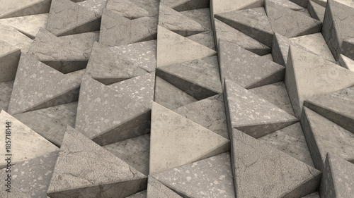 Pattern of concrete triangle prisms © GooD_WiN