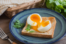 Soft Boiled Egg With Toast On ...