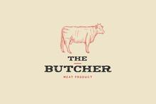 Vintage Logo Butcher Shop With...