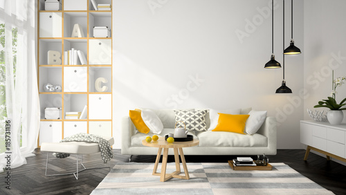Interior modern design room 3d illustration acheter for Room design zug