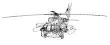 Helicopter Outline. Military E...
