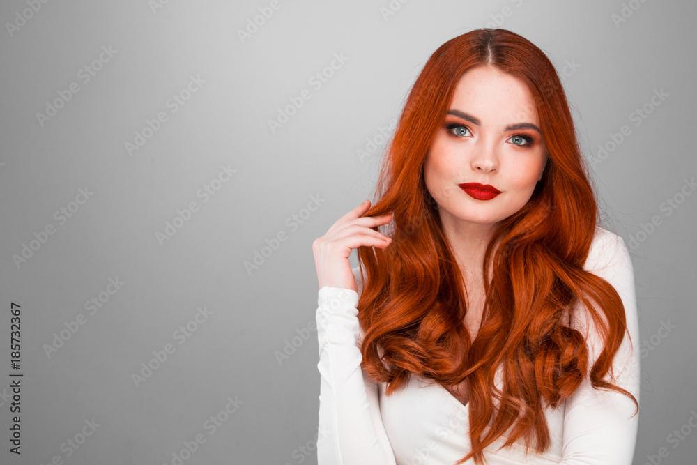 Fotografie, Obraz Gorgeous redhead girl