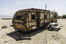 Torn Trailer In Salton Sea, Ca...