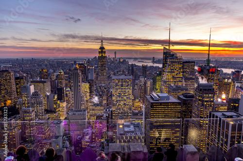 Fototapeta View from the Rockefeller Center