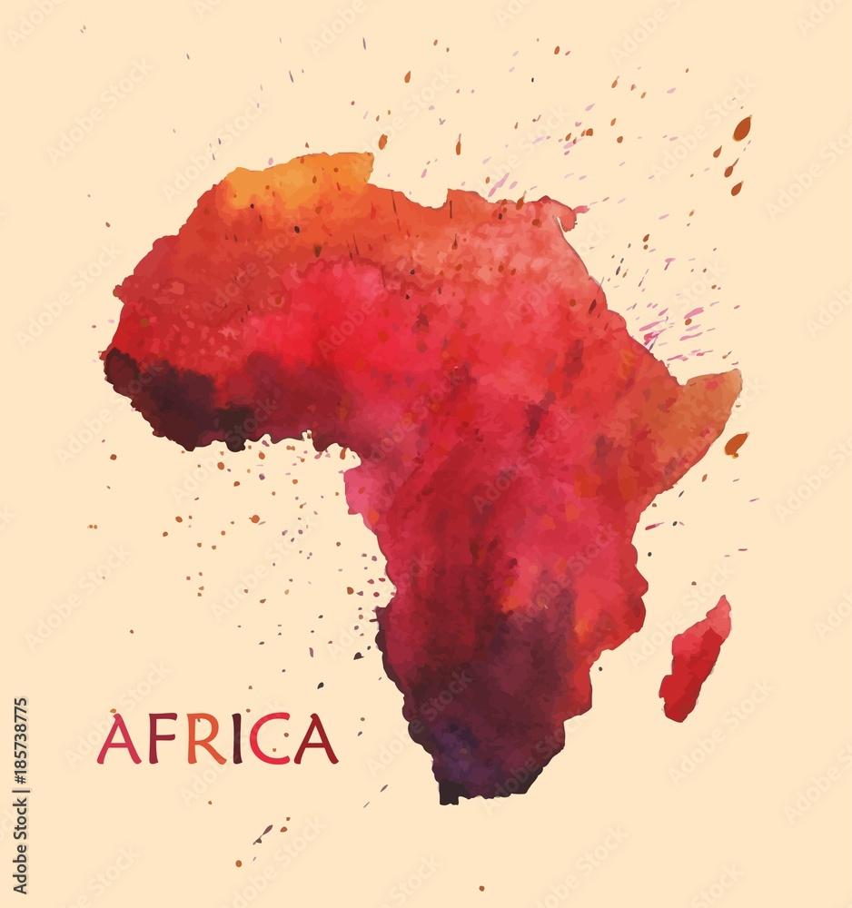 Fototapety, obrazy: Stylized map of Africa.