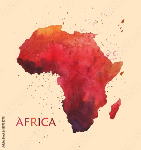 Photo  Stylized map of Africa.