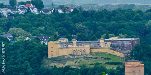In de dag Vestingwerk Fort Großfürst Konstantin Koblenz